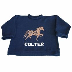 Personalized Equestrian Horse Pullover Sweater