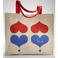 Hearts Organic Canvas Tote