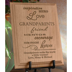 Personalized A Grandparent Is Wooden Plaque