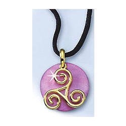 Celtic Colors for Summer Triskel Charm Pendant