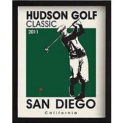 Personalized Golf Classic Framed Art Print