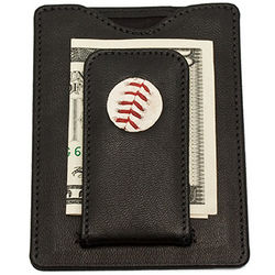 Major League Baseball Stitch Money Clip and Wallet