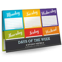 Days of the Week Sticky Note Packets