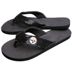 Women's NFL Team Sequin Sandals