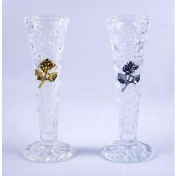 Crystal Vase with Rose Emblem