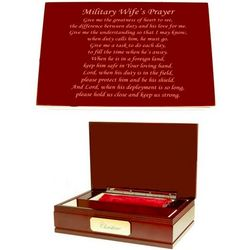 Military Wife's Prayer Memory Box