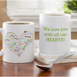 Heart of Love Personalized Coffee Mug for Mom