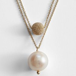 Stardust Bead Pearl Necklace