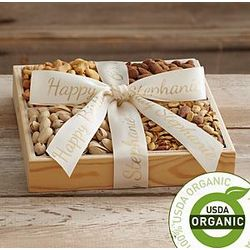 Organic Nut Tray with Personalized Ribbon