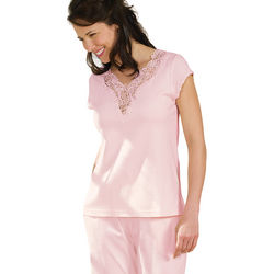 Lovely Lace Cotton Pajamas
