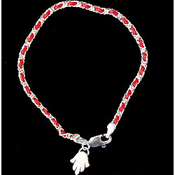"7"" Kaballah Bracelet with Hamsa"