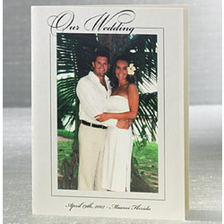 Our Wedding Vertical Ivory Digital Photo Cards