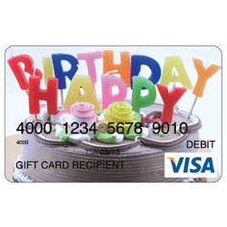 Birthday Cake Visa Gift Card