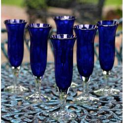 Cobalt Champagne Glasses