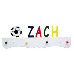 Personalized Primary Colors Child Coat Rack