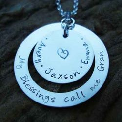 'My Blessings Call Me' Hand Stamped Sterling Silver Necklace