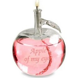 Apple of My Eye Glass Oil Lamp