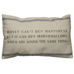 Money Can't Buy Happiness Vintage Sack Pillow