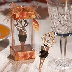 Leaf Bottle Stopper Favor