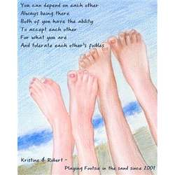 Sandy Feet Personalized Print