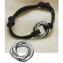 Pewter Serenity Prayer Bracelet