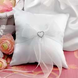 Sparkling Hearts Wedding Ring Pillow