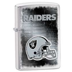 Personalized Oakland Raiders Brushed Chrome Zippo Lighter