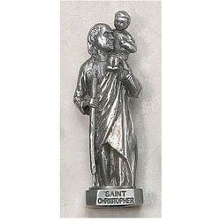 Pocket Pewter St. Christopher Figurine