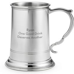 Pewter Beveled Beer Mug