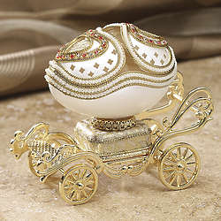 Heart Doors Musical Goose Egg Trinket Box
