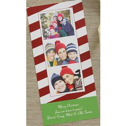 Personalized Candy Cane Photo Postcards