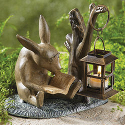 Reading Rabbit Garden Lantern