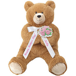 Mother's Day Lil' Hunka Love Teddy Bear with Pink Roses