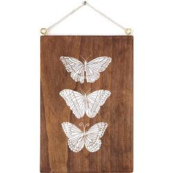Handcrafted Butterflies Plaque