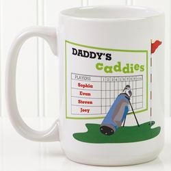 His Favorite Caddies Personalized Coffee Mug