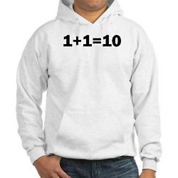 Binary Equation Joke Hooded Sweatshirt