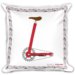 """""""L"""" in LOVE Cycling Square Pillow Insert & Cover"""