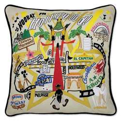 Embroidered Hollywood Pillow