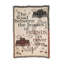 The Road Between Friends Personalized Afghan/Throw