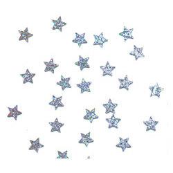 Silver Sparkle Stars Confetti