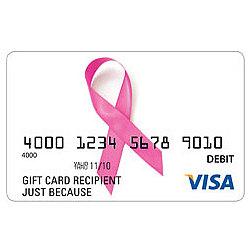 Breast Cancer Visa Gift Card