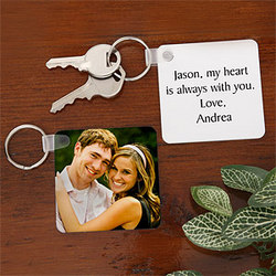 Personalized Photo Keychain for Couples