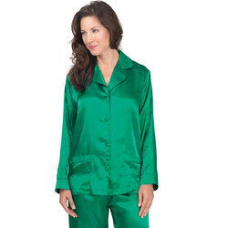 Emerald Satin Pajamas