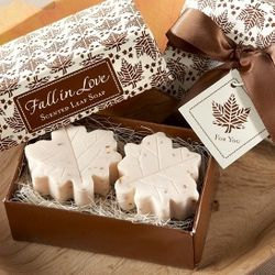 Fall in Love Leaf-Shaped Soaps Wedding Favors