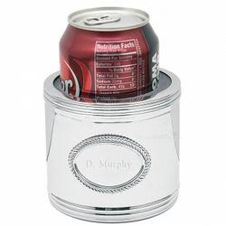 Mirror Finish Personalized Crest Beverage Koozie