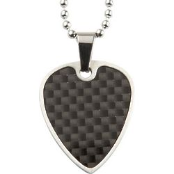Black Graphite Guitar Pick Necklace