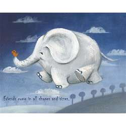 Flying Elephant Personalized Art Print
