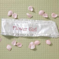 Flower Girl Satin Sash