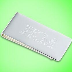 Engravable Silver Money Clip
