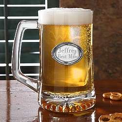 Engraved Medallion Personalized Beer Stein